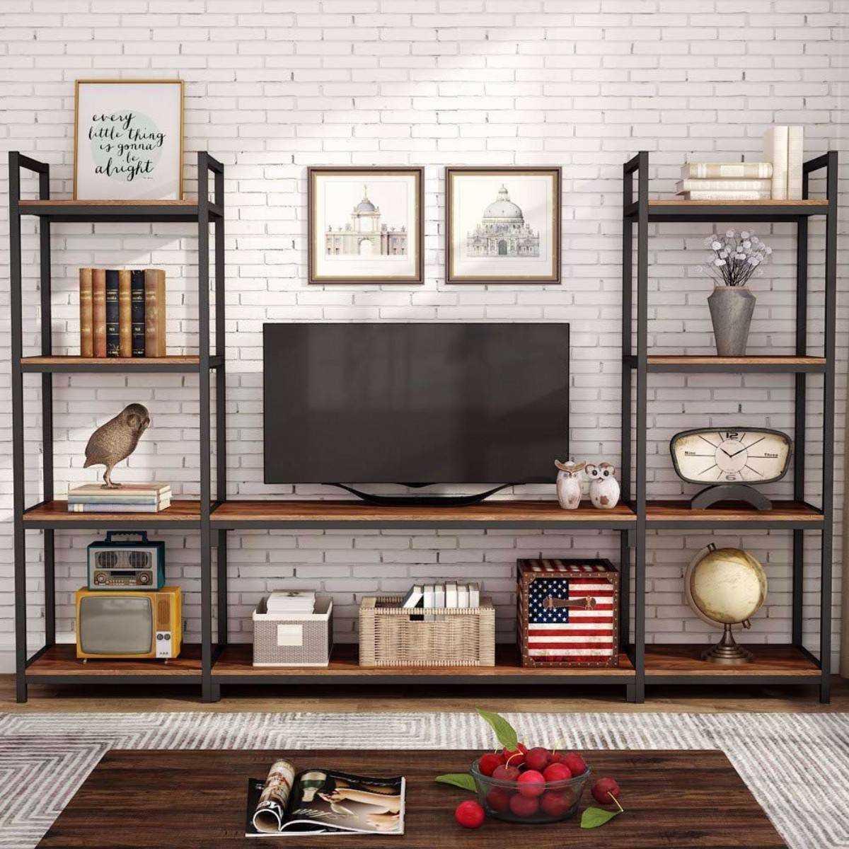 Zizuva Tasarım Modern Kitaplıklı Tv Sehpası