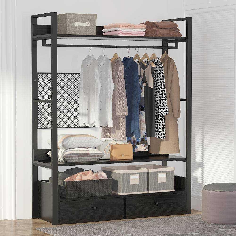 Zizuva Siyah Tasarım Giyinme Odası Elbise Düzenleyici Askılık
