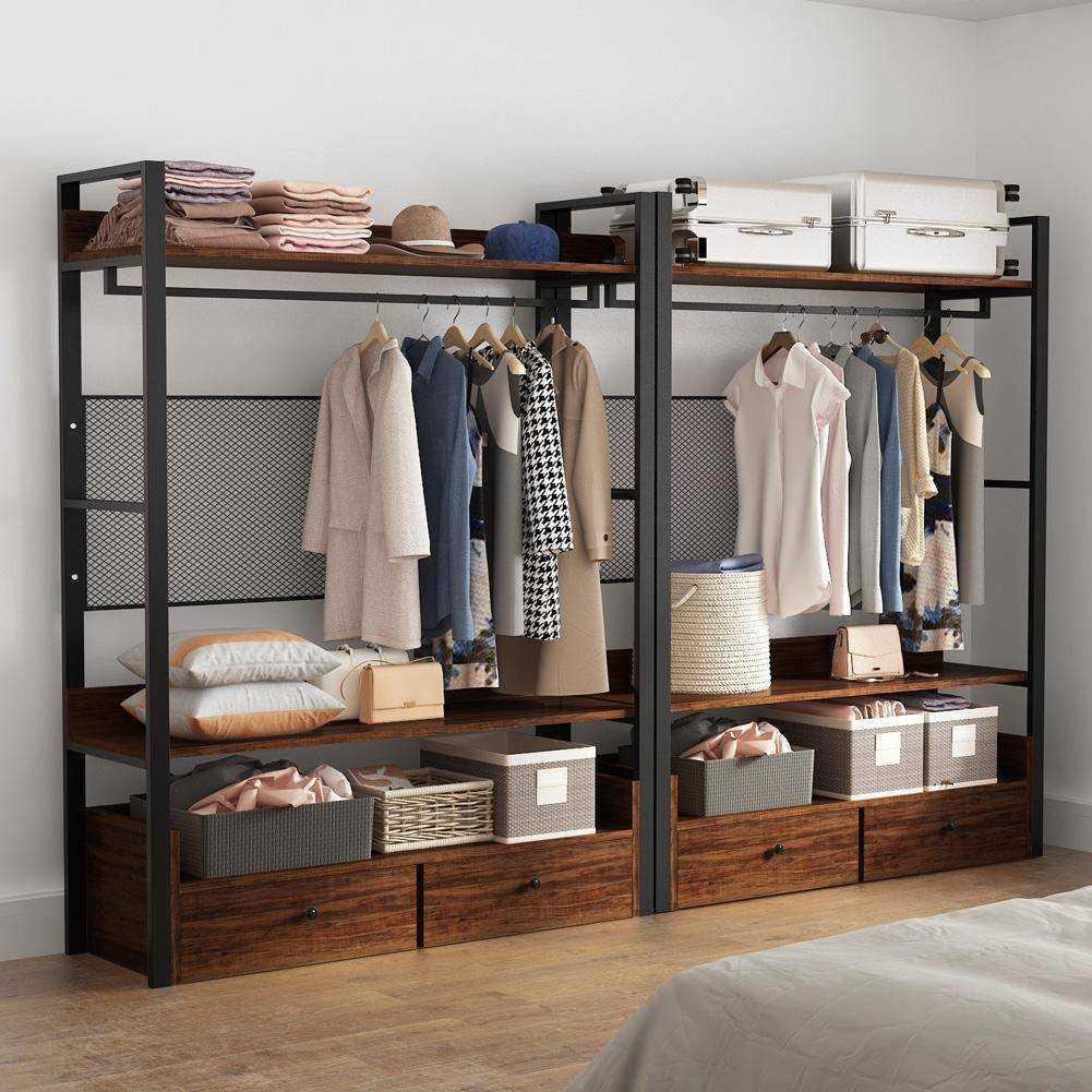 Zizuva Ceviz Tasarım Giyinme Odası Elbise Düzenleyici Askılık