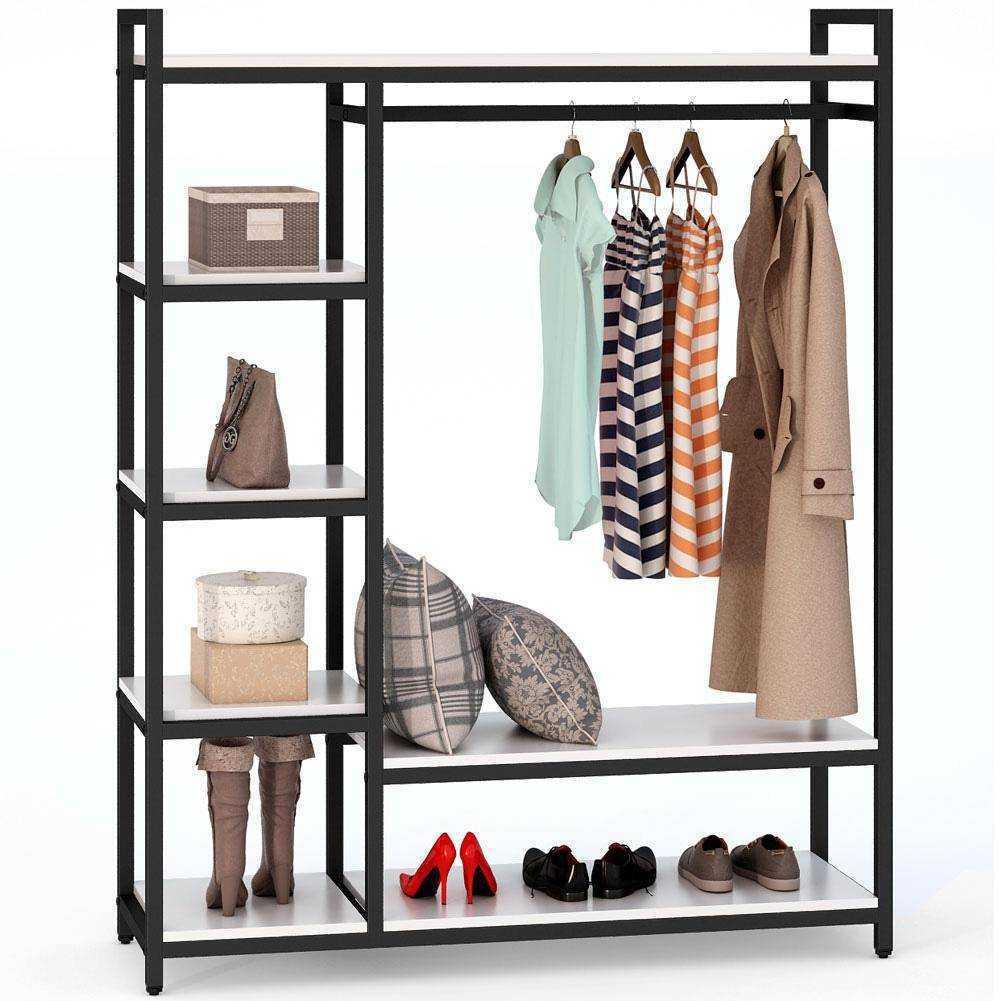 Zizuva Beyaz Tasarım Giyinme Odası Elbise Düzenleyici Askılık