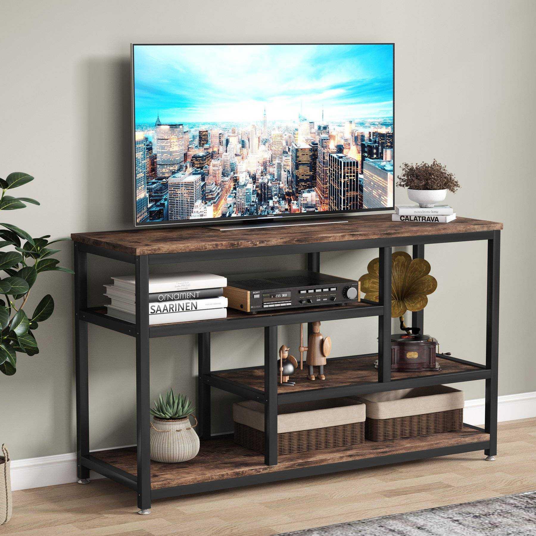 Zizuva Ceviz Raflı Tasarım Tv Sehpası